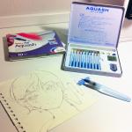 Preparazione: Kit aquash, pinceau à eau et lineart