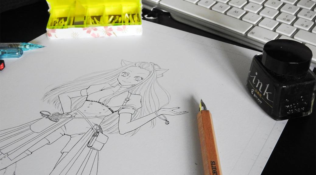 Réalisation d'une illustration manga